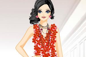 红色长裙装