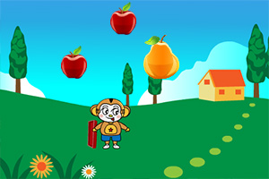 小猴子接水果