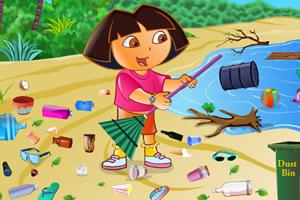 朵拉打扫海滩
