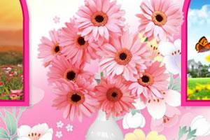 异国的花卉装饰