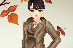 枫叶下的秋季装
