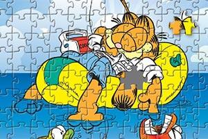 加菲猫趣味拼图