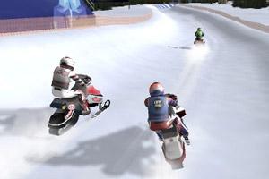 雪地摩托竞速赛
