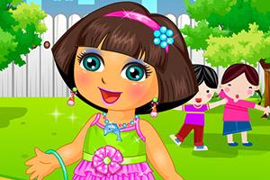朵拉的幼儿园装扮