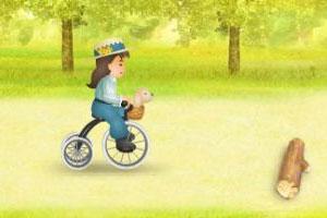 滑轮车女孩