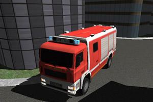 3D消防车停靠
