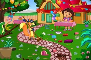 朵拉生日派对大扫除