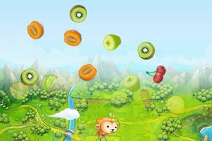 小猴跳水果