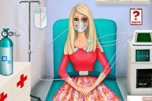 芭比在救护车上