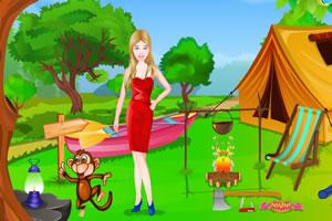 芭比的野营布置