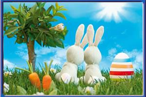 复活节的兔子拼图