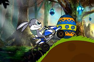小兔子复活节骑车