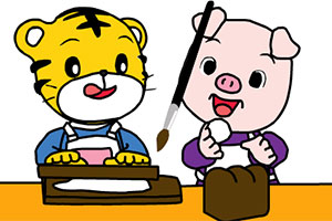 巧虎和小猪一起吃