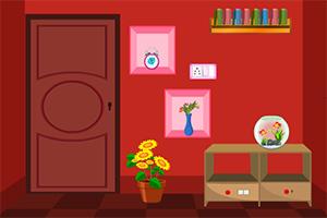 逃离简单红色密室