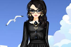 黑色礼服与白领