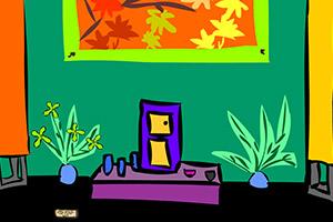 卡通涂鸦房间逃离