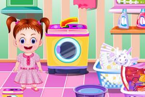 宝贝艾玛洗衣服