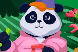 竹林里的熊猫