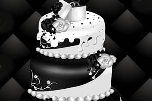 黑与白的婚礼蛋糕