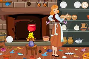 灰姑娘清理厨房