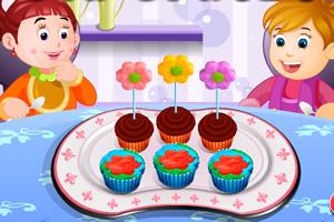 鲜花纸杯蛋糕