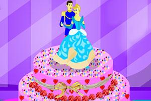 灰姑娘的蛋糕装饰