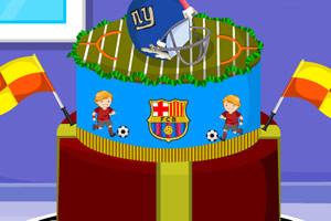 足球蛋糕装饰