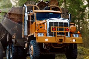 大卡车运木材2
