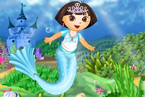 朵拉人鱼公主装扮