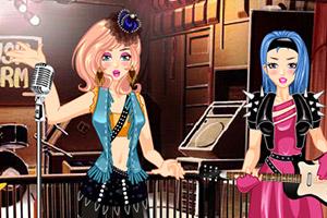 摇滚乐队女孩装