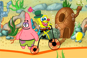 海绵宝宝小丑自行车