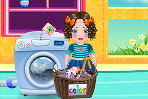 宝贝达莉亚洗衣服