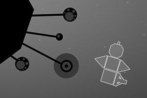 黑白空间几何战机