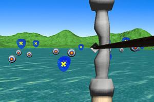 湖边射箭训练