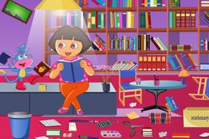 朵拉清理图书馆