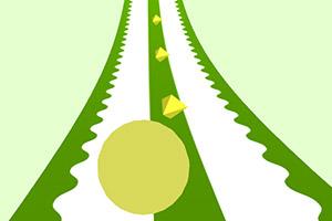 滚动的绿球