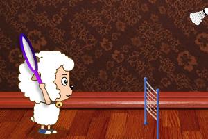 喜羊羊打羽毛球双人版