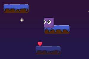 跳跃的紫色小方块
