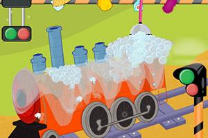 清洗橙色小火车