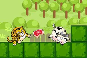 老虎吃奶牛