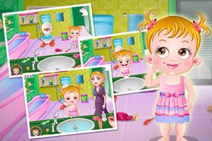 可爱宝贝浴室清洁