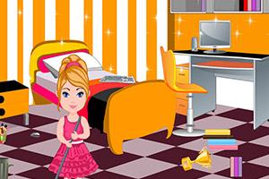 可爱芭比清理房间