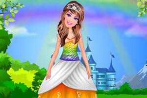 彩虹芭比公主