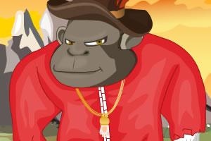 滑稽的大猩猩