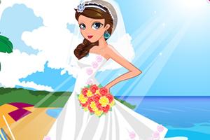 夏威夷婚礼新娘