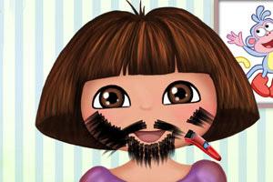 朵拉刮胡子