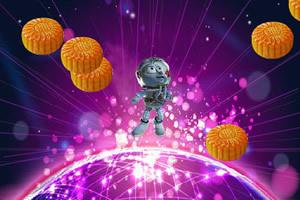 外星人吃月饼