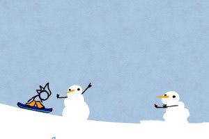 火柴人酷炫滑雪