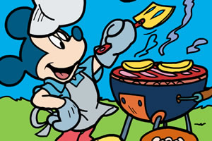 米奇烹饪上色