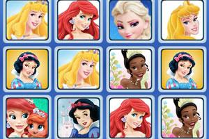 迪士尼公主记忆牌